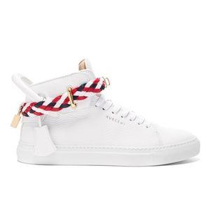 Buscemi Unisex 100MM Belt Weave Leather Sneakers